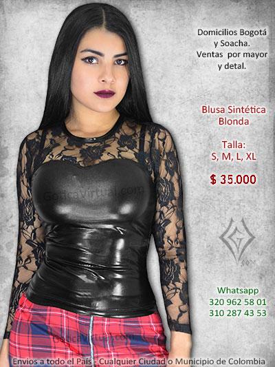 ab3c83317a12 Blusas goticas rockeras metaleras blonda cadenas algodon taches ...