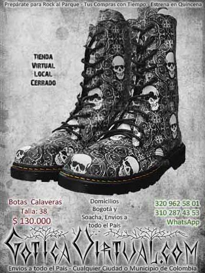 botas calaveras gris hombre masculino bonitas ventas online bogota envios todo el pais cali medellin cucuta colombia