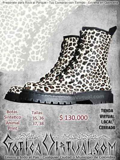 botas glam animal print cordones bogota ventas online bodega envios todo el pais narino neiva manizales cucuta valledupar tunja colombia