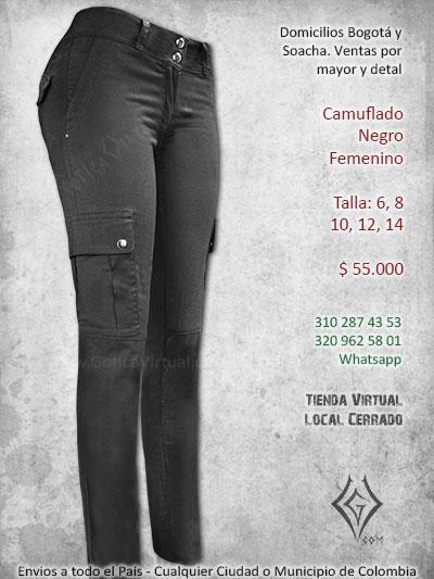 8e864a250596 camuflado unicolor negro femenino chica rockera metalera bogota medellin  cali armenia pasto tulua quindio pasto colombia