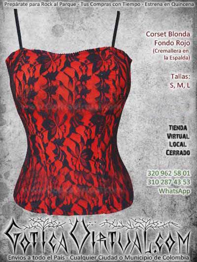 corset blonda rojo negro flores bogota mujer femenino bodega ventas online envios a todo el pais medellin cucuta neiva cartagena narino colombia