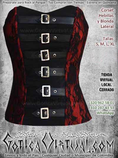 corset hebillas rojo blonda negro bogota ventas online envios a todo el pais bodegacali medellin cucuta narino neiva cauca manizales colombia