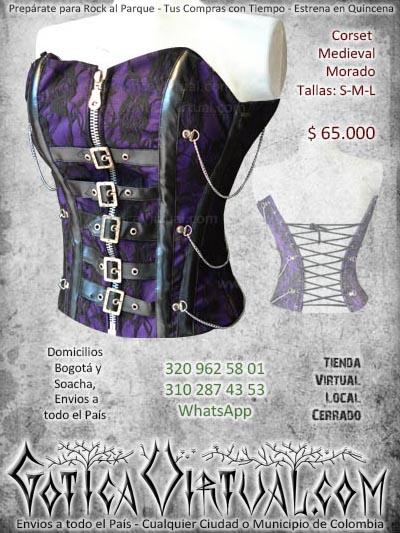 corset medieval morado gotica virtual envios a todo colombia domicilios en bogota y soacha tienda online colombia