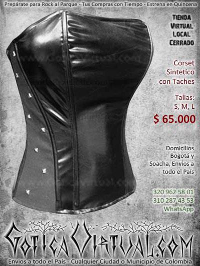 corset sintetico taches bogota negro cuerina cuero bodega ventas online envios a todo el pais valledupar cali cucuta neiva cauca colombia