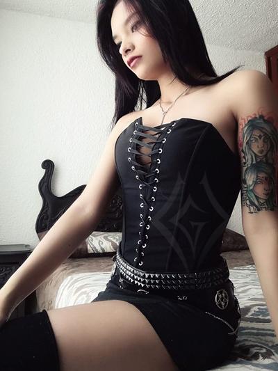 corset tela amarrado frontal bogota negro economico barato hermoso metalero rockero ventas online envios a todo el pais cali medellin cucuta narino neiva tunja colombia