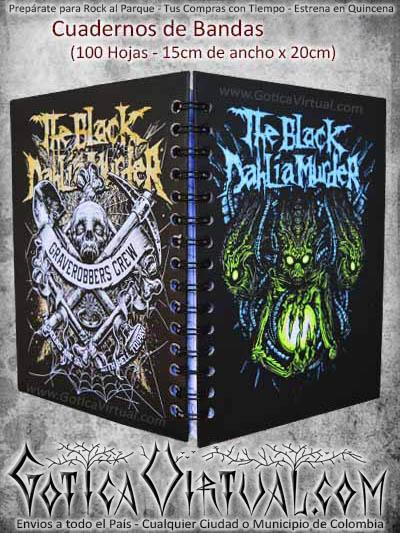 cuaderno agenda the black bandas escolar domicilios colombia bogota cali medellin cucuta santander pasto