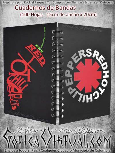 cuaderno banda red hot peppers domicilios bandas colombia medellin bogota soacha cali manizales cucuta