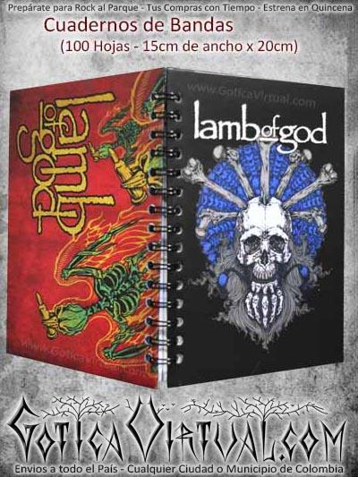 cuaderno lamb of god bandas escolar colombia domicilios bogota soacha cucuta pasto manizales medellin cali