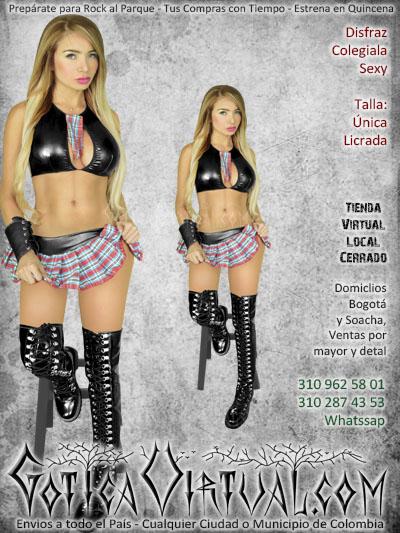 disfraz colegiala sexy halloween bogota ventas online envios a todo el pais cali medellin cucuta cauca villavicencio rioacha zipaquira colombia