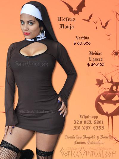 disfraz monja sexy bodega sexy ventas online envios a todo el pais cali mocoa sucre tolima medellin barranquilla zipaquira villavicencio popayan colombia