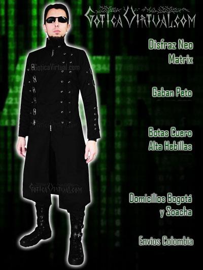 disfraz neo matrix gaban botas ventas online envios a todo el pais medellin cucuta sucre tolima yopal barranquilla villavicencio popayan huila mocoa