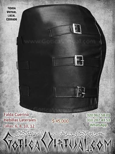 falda cuerina hebillas cuero negra bogota femenina barata economica ventas online envios a todo el pais medellin cucuta neiva cauca valledepuar colombia