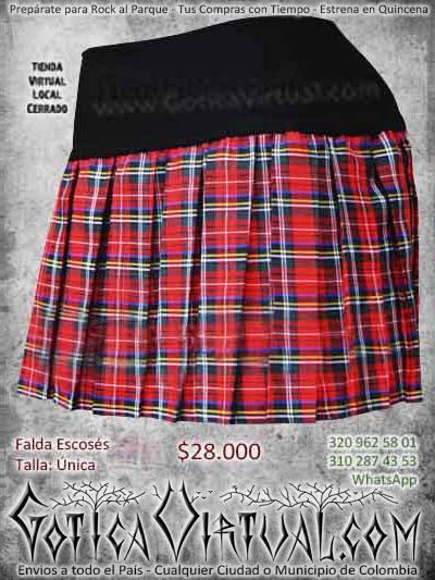 falda escosesa roja bogotamujer hermosa ropa ventas online envios a todo el pais cali medellin cucuta neiva narino cauca sogamoso colombia