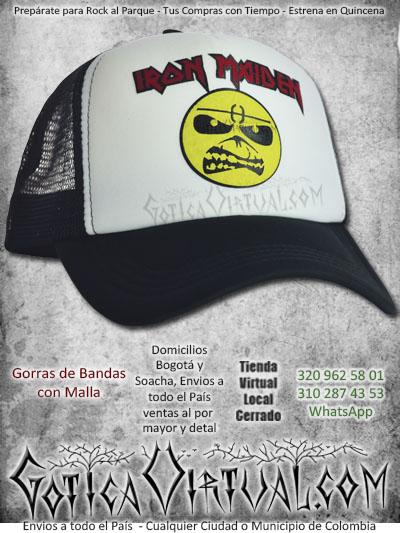 gorra bandas iron maiden venta online economica envioa todo el pais bogota colombia