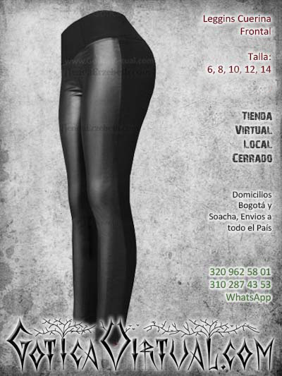 leggins cuerina frontal negro sintetico chicle mujer femenino economico barato envios todo el pais ventas online cali medellin cucuta rioacha neiva manizales colombia