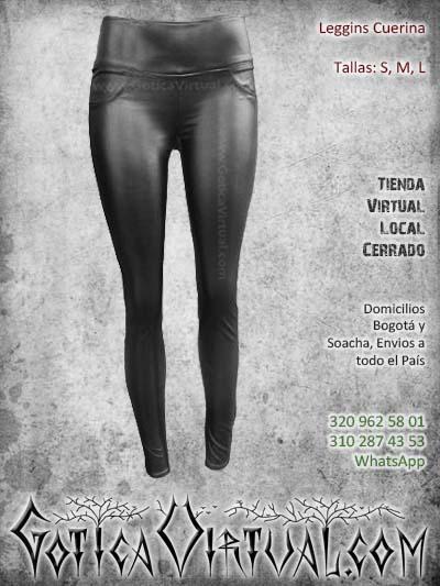 leggins cuerina sintetico negro mujer femenino economico barato ventas online envios todo el pais medellin cucuta narino neiva manizales colombia