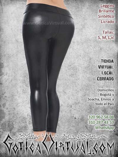 leggins sintetico brillante licrado pvc negro bogota barato economico mujer femenino ventas online envios todo el pais medellin cucuta narino neiva putumayo manizales colombia