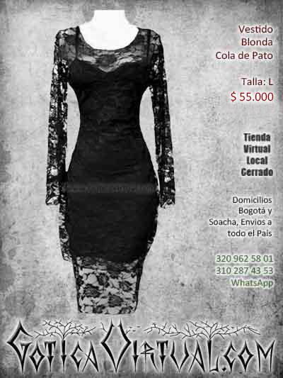 vestido gotico negro rockero bogota bodega bonito economico ventas online envios a todo el pais manizales cauca cucuta sucre sincelejo popayan yopal sincelejo colombia