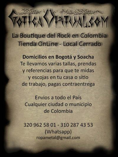tienda ropa gotica metalera oscura dark store bogota colombia rock punk venta por mayor fabrica exportacion medellin cali manizales pereira yopal tunja